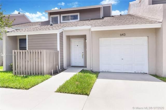 643 Woodgate Ln D, Sunrise, FL 33326 (MLS #A10885282) :: Lucido Global