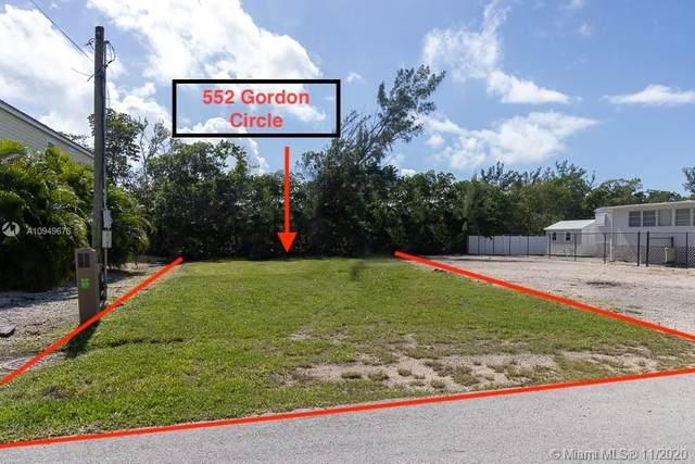 552 Gordon Cir, Key Largo, FL 33037 (MLS #A10949676) :: The Teri Arbogast Team at Keller Williams Partners SW
