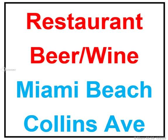 Collins Avenue Restaurant, Miami Beach, FL 33141 (MLS #A10949851) :: The Paiz Group
