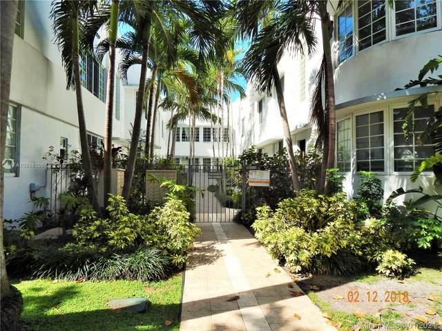 1000 Meridian Av #12, Miami Beach, FL 33139 (MLS #A10986109) :: Team Citron