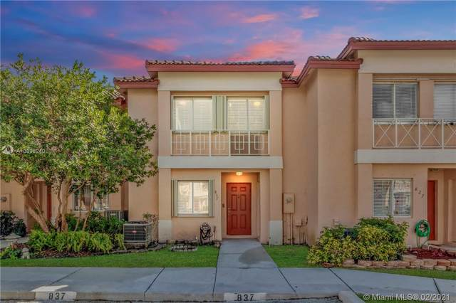837 NW 208th Dr #837, Pembroke Pines, FL 33029 (MLS #A10998240) :: Castelli Real Estate Services