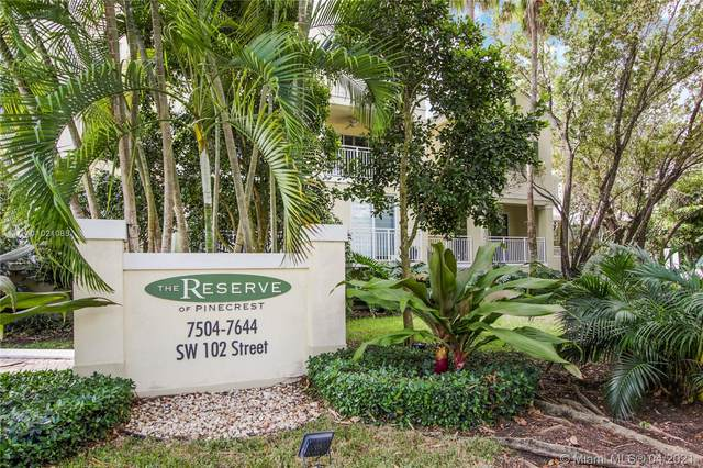 7584 SW 102nd St #101, Pinecrest, FL 33156 (MLS #A11021085) :: Carole Smith Real Estate Team