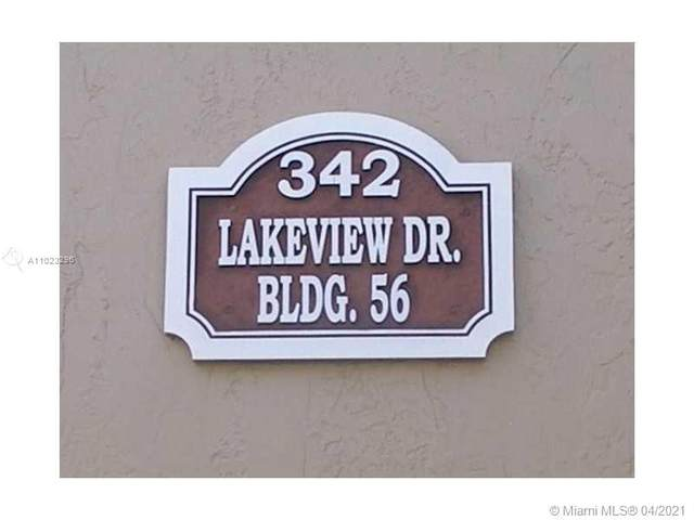 342 Lakeview Dr #201, Weston, FL 33326 (MLS #A11023296) :: Green Realty Properties