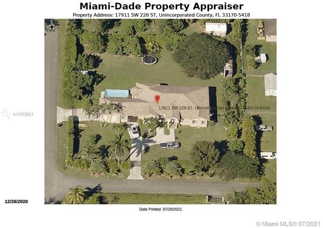 17911 SW 228th St, Miami, FL 33170 (MLS #A11072861) :: Berkshire Hathaway HomeServices EWM Realty