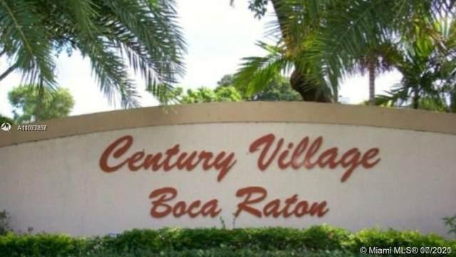 103 Fanshaw C #103, Boca Raton, FL 33434 (#A11073867) :: Dalton Wade
