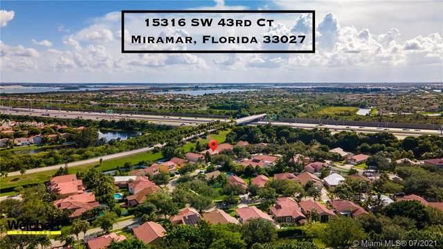 15316 SW 43rd Ct, Miramar, FL 33027 (MLS #A11076110) :: Patty Accorto Team