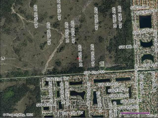 SW 39 ST & SW 162 CT, Miami, FL 33185 (MLS #A11076660) :: Prestige Realty Group