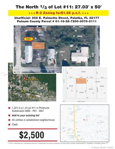 302 E Palmetto St, Palatka, FL 32177 (MLS #A11108201) :: Castelli Real Estate Services