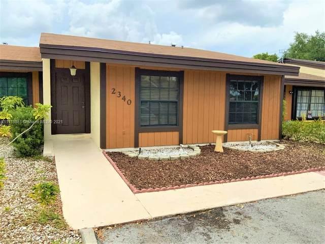 2340 Allamanda Court, Pembroke Pines, FL 33026 (MLS #A11113881) :: The Pearl Realty Group