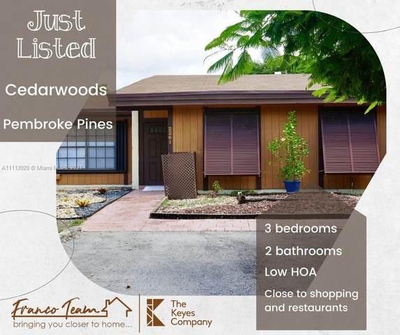 2261 Walnut Ct #2261, Pembroke Pines, FL 33026 (MLS #A11113920) :: Prestige Realty Group