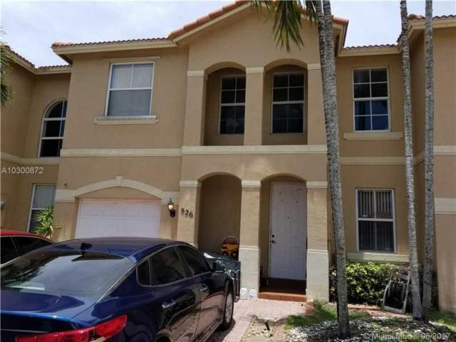 826 NW 135th Ter #826, Pembroke Pines, FL 33028 (MLS #A10300872) :: Christopher Tello PA