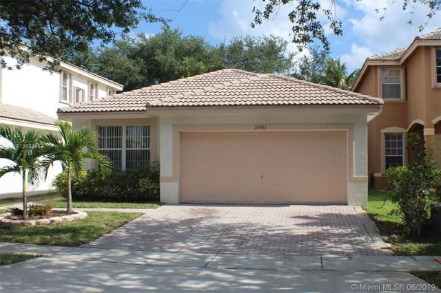 14981 SW 18th St, Miramar, FL 33027 (MLS #A10682562) :: THE BANNON GROUP at RE/MAX CONSULTANTS REALTY I