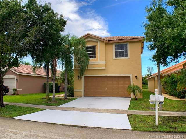 2183 SW 173rd Ave, Miramar, FL 33029 (MLS #A10716294) :: The Jack Coden Group