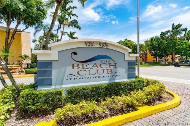 9363 Fontainebleau Blvd H110, Miami, FL 33172 (MLS #A10745547) :: Berkshire Hathaway HomeServices EWM Realty