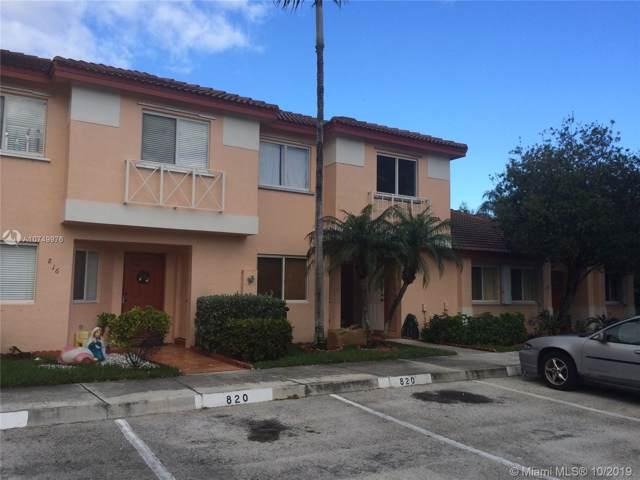 820 NW 208th Cir #820, Pembroke Pines, FL 33029 (MLS #A10749976) :: Green Realty Properties
