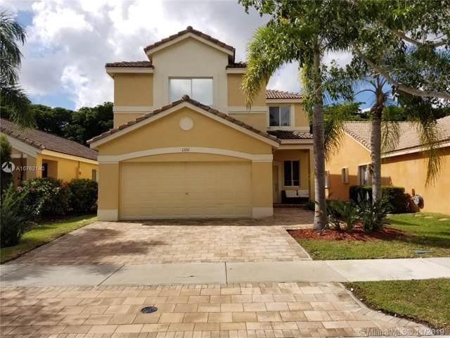 1351 Sago Ln, Weston, FL 33327 (MLS #A10762140) :: Green Realty Properties
