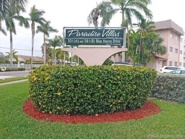 501 Blue Heron Dr 209-A, Hallandale, FL 33009 (MLS #A10777956) :: The Paiz Group