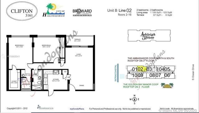3161 S Ocean Dr #802, Hallandale Beach, FL 33009 (MLS #A10865041) :: Castelli Real Estate Services
