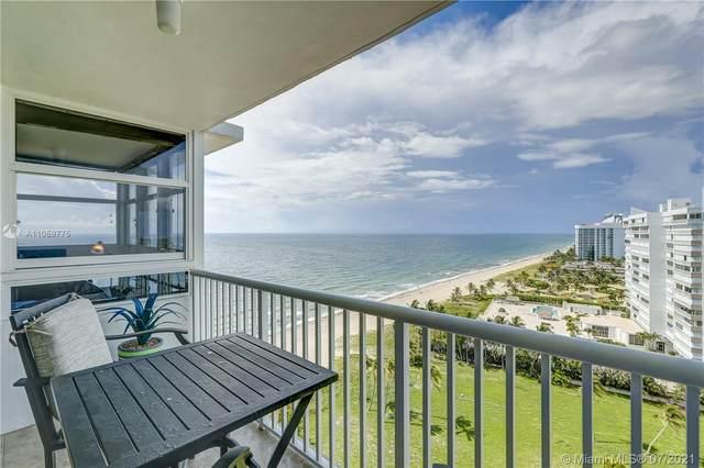 1370 S Ocean Blvd #1603, Pompano Beach, FL 33062 (MLS #A11059775) :: Vigny Arduz | RE/MAX Advance Realty