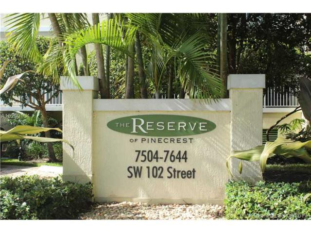 7580 SW 102nd St #103, Pinecrest, FL 33156 (MLS #A10299164) :: The Riley Smith Group