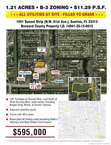 1051 Sunset Strip, Sunrise, FL 33313 (MLS #A10569948) :: Berkshire Hathaway HomeServices EWM Realty