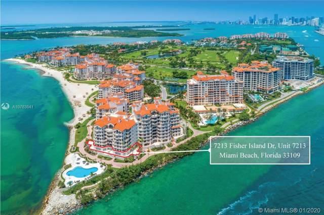 7213 Fisher Island Dr #7213, Miami Beach, FL 33109 (MLS #A10783841) :: The Teri Arbogast Team at Keller Williams Partners SW