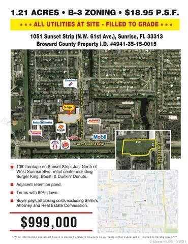 1051 Sunset Strip, Sunrise, FL 33313 (MLS #A10569948) :: Green Realty Properties