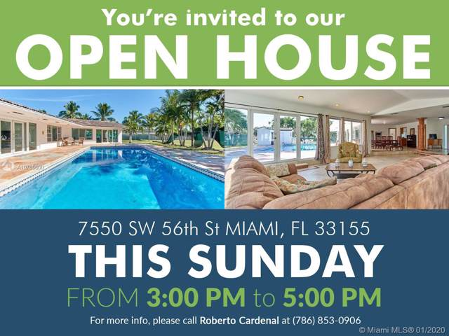 7550 SW 56th St, Miami, FL 33155 (MLS #A10785600) :: The Adrian Foley Group