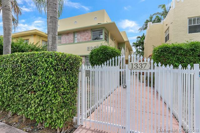 1337 Euclid Ave #102, Miami Beach, FL 33139 (MLS #A10472571) :: Calibre International Realty