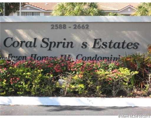 2594 Riverside Dr #1, Coral Springs, FL 33065 (MLS #A10476242) :: Calibre International Realty