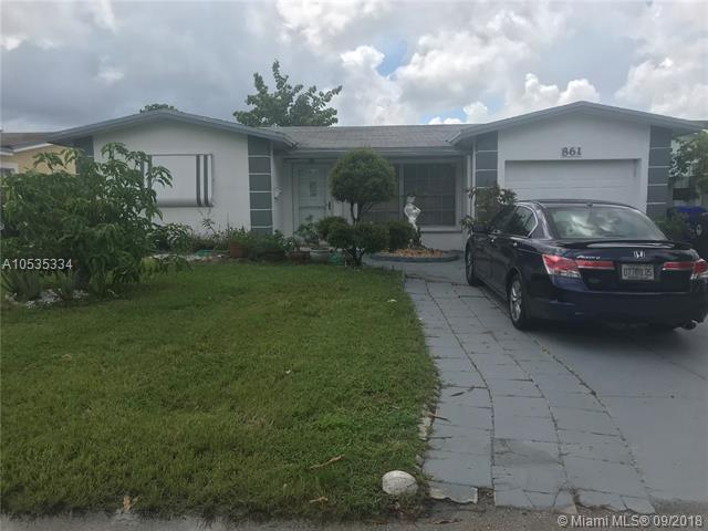 861 SW 63rd Ter, North Lauderdale, FL 33068 (MLS #A10535334) :: Prestige Realty Group