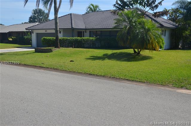 671 NW Nw 82nd Terrace, Coral Springs, FL 33071 (MLS #A10537922) :: Green Realty Properties