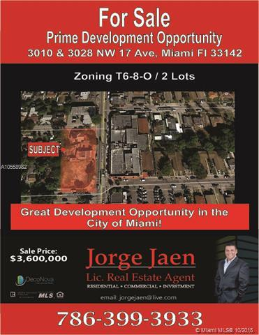 3016 NW 17th Ave, Miami, FL 33142 (MLS #A10558982) :: Green Realty Properties