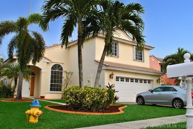 1381 NW 187 AVENUE, Pembroke Pines, FL 33029 (MLS #A10566985) :: Green Realty Properties
