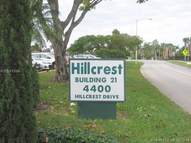 4400 Hillcrest Dr 510B, Hollywood, FL 33021 (MLS #A10581889) :: Green Realty Properties