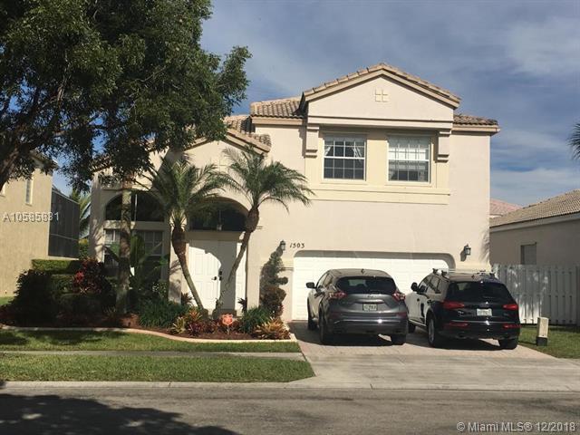 1503 NW 159th Ln, Pembroke Pines, FL 33028 (MLS #A10585831) :: Castelli Real Estate Services