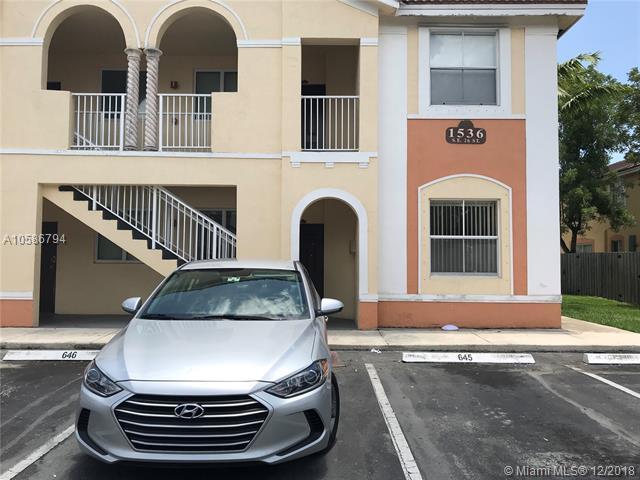 1536 SE 26th St #201, Homestead, FL 33035 (MLS #A10586794) :: Castelli Real Estate Services