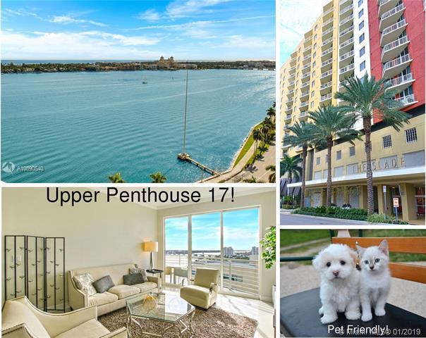 1551 N Flagler Dr Unit Uph17, West Palm Beach, FL 33401 (MLS #A10590540) :: The Teri Arbogast Team at Keller Williams Partners SW
