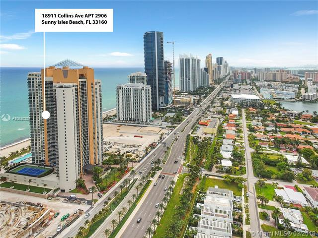 18911 Collins Ave #2906, Sunny Isles Beach, FL 33160 (MLS #A10640388) :: Grove Properties