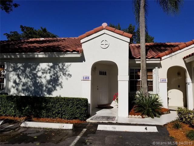 1466 Springside Dr #1466, Weston, FL 33326 (MLS #A10659945) :: Grove Properties
