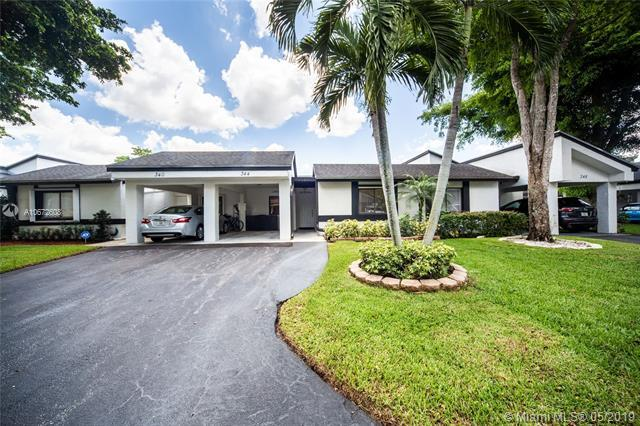 344 Fairway Cir #37, Weston, FL 33326 (MLS #A10672608) :: Castelli Real Estate Services