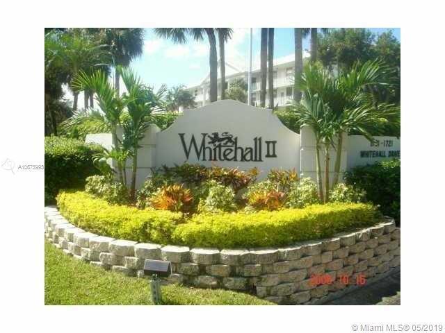 1701 Whitehall Dr #201, Davie, FL 33324 (MLS #A10675993) :: Green Realty Properties