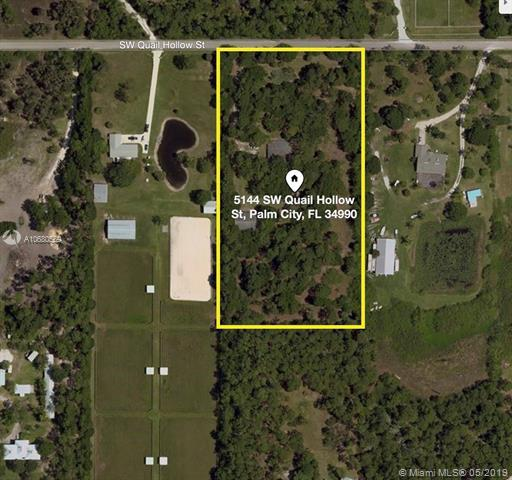 5144 SW Quail Hollow St, Palm City, FL 34990 (MLS #A10680569) :: Green Realty Properties