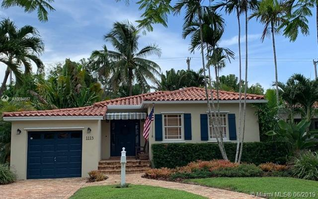 1113 El Rado St, Coral Gables, FL 33134 (MLS #A10694657) :: Laurie Finkelstein Reader Team