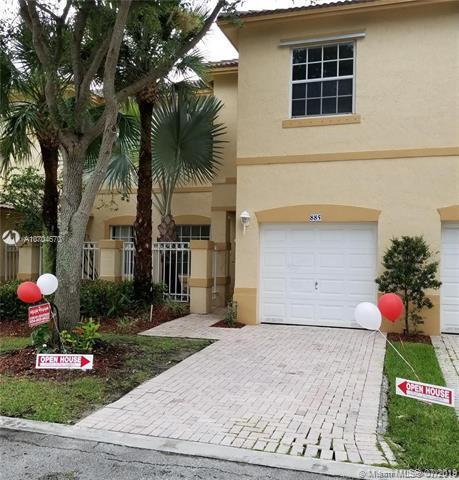 885 NW 170th Ter #5, Pembroke Pines, FL 33028 (MLS #A10704670) :: Grove Properties