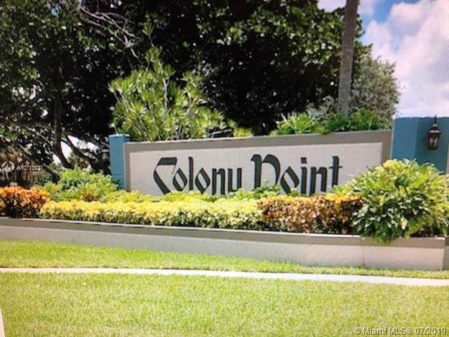 900 Colony Point Cir #519, Pembroke Pines, FL 33026 (MLS #A10710927) :: The Brickell Scoop