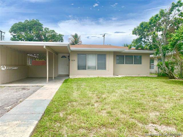 1504 NW 9th Ave, Fort Lauderdale, FL 33311 (MLS #A10724461) :: Ray De Leon with One Sotheby's International Realty