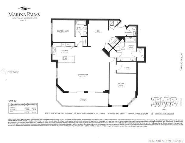 17301 Biscayne Blvd #1101, Aventura, FL 33160 (MLS #A10743037) :: Grove Properties