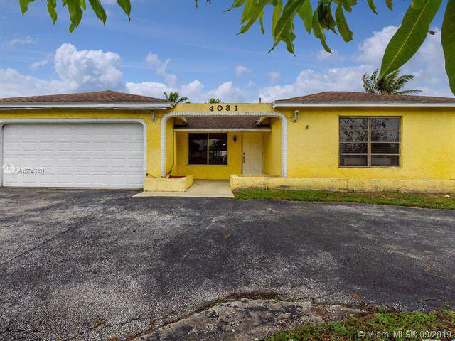 4031 NW 115th Ter, Sunrise, FL 33323 (MLS #A10746001) :: Ray De Leon with One Sotheby's International Realty