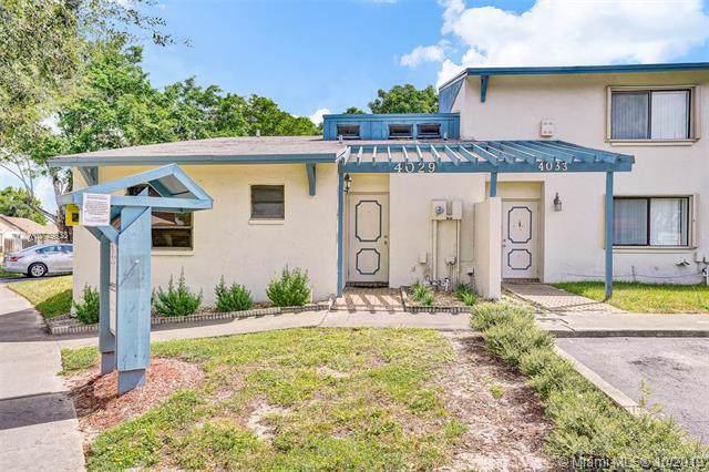 4029 SW 68th Way 1-I, Miramar, FL 33023 (MLS #A10749938) :: Green Realty Properties